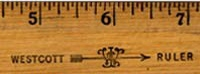 Ah, the Wescott Ruler.  Feared by naughty boys and girls for generations